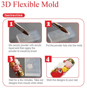 3d acrylic nail art molds prinsesfo Images