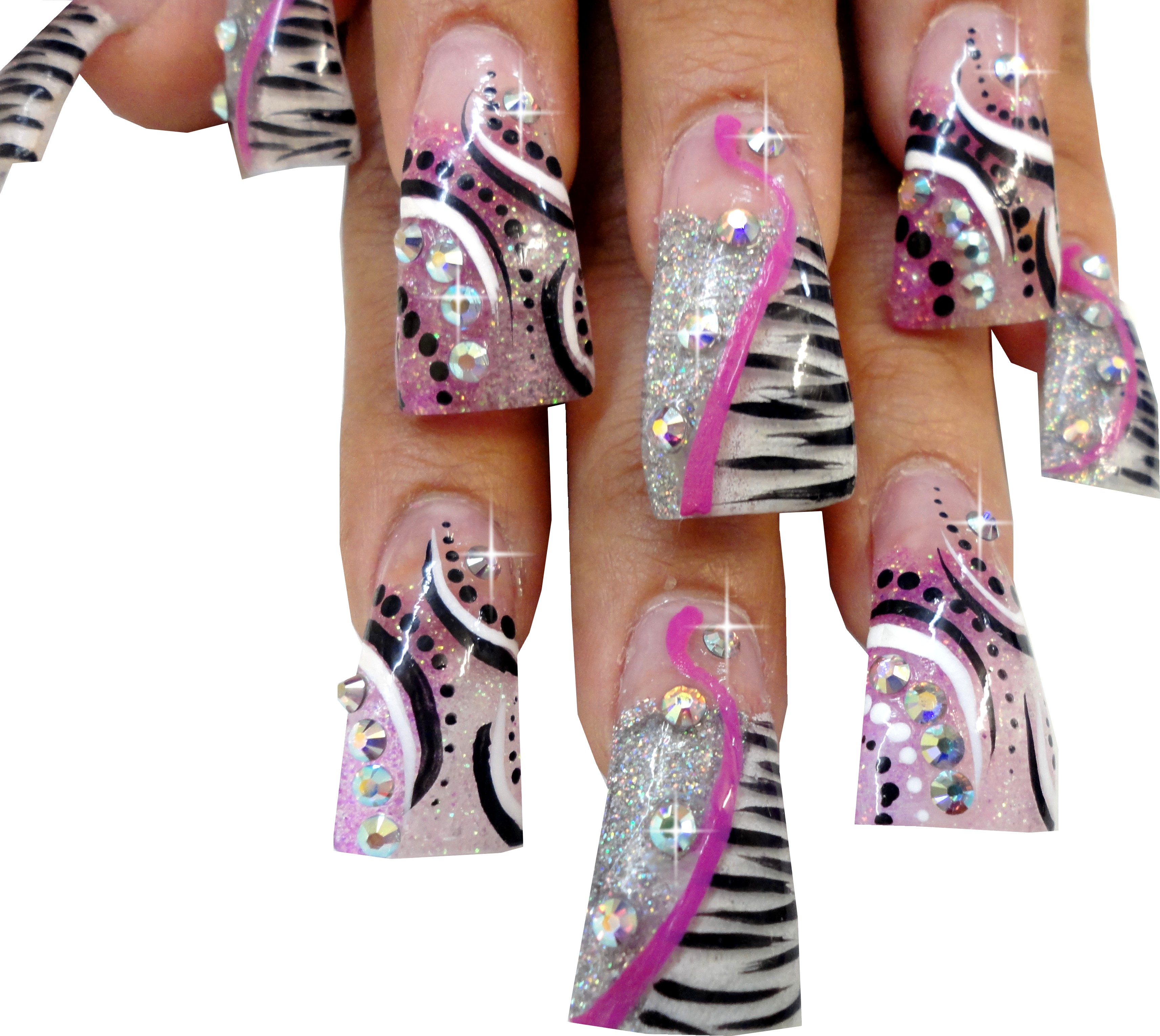 duck flare nail tips are unique in shape to add drama to any nail art design choose from crystal clear natural and white - Nail Tip Designs Ideas