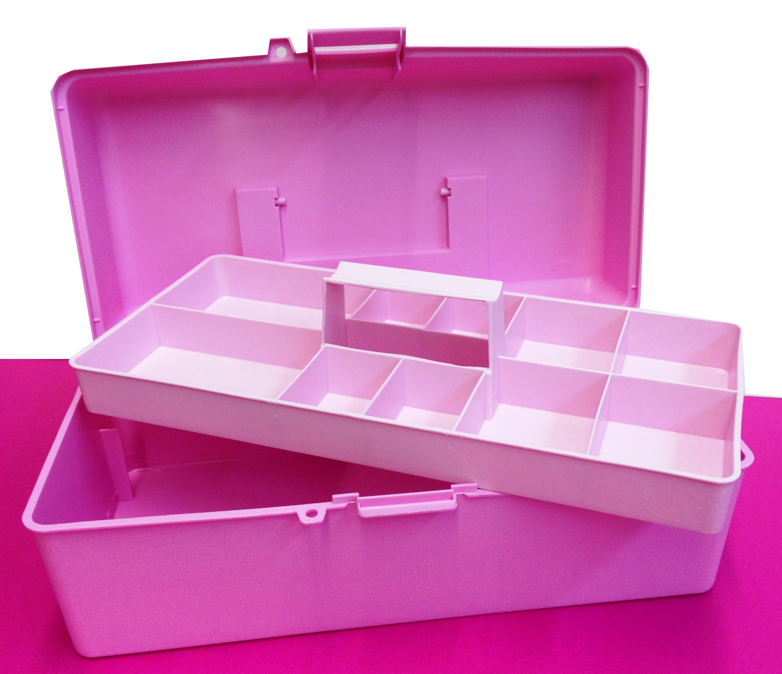 Empty Storage Box With Handy Pull Out Tray For Nail Art Make Up Manicure Supplieore