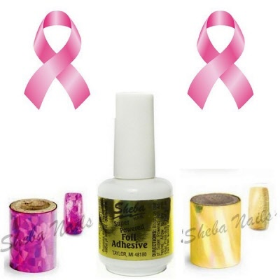 Breast Cancer Month Nail Foil Kit