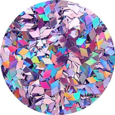 Flat Nail Shape Diamond Cut Holographic Violet