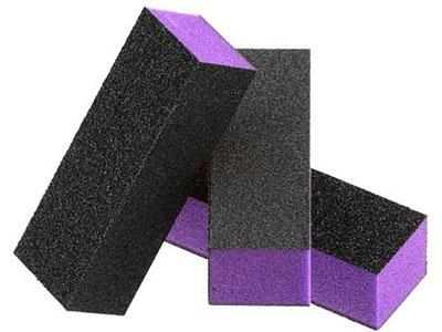Nail Buffer Block Black Medium Course