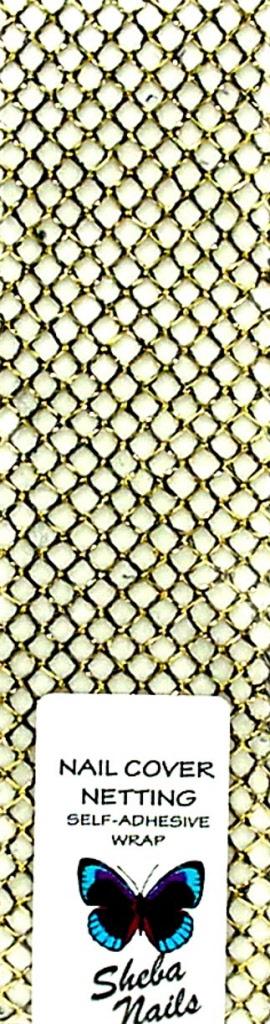 Nail Cover Netting Golden Black