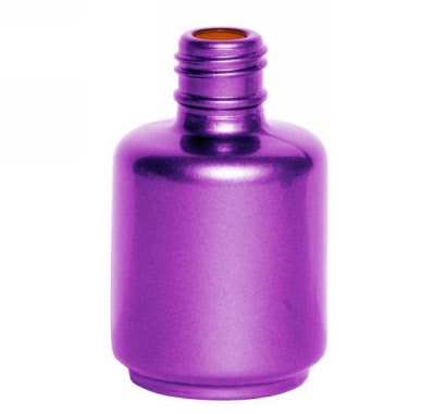 Empty Nail Polish Bottle - Metallic Pearl Purple