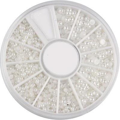Baby White Pearls Nail Art Wheel