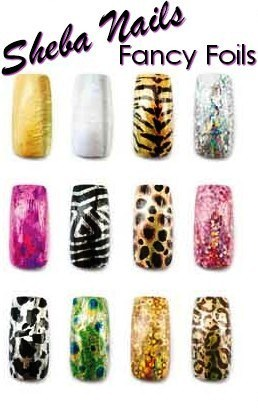 Sheba Nails Nail Art Transfer Foil used in conjunction with Foil
