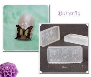 3d acrylic nail art mold - butterfly