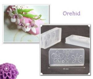 3d acrylic nail art mold - orchid
