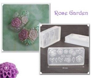 3d acrylic nail art mold - rose garden