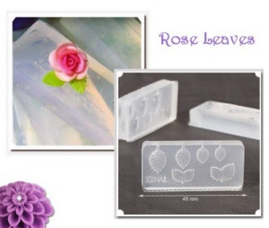 3d acrylic nail art mold - rose leaves