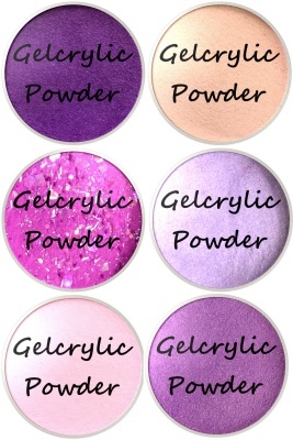 gelcrylic color acrylic powder high glass collection sampler kit