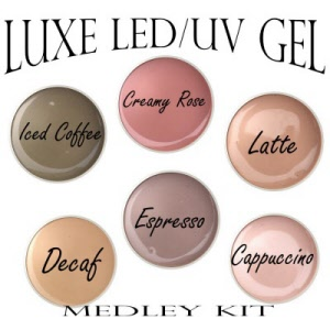 luxe led uv gel medley kit naturally nudes uv gel