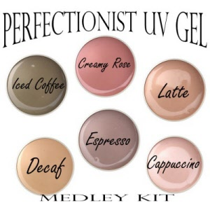 perfectionist uv gel medley kit naturally nudes uv gel