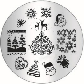 stamping plate nail art design bp-01 holiday christmas stamping plate